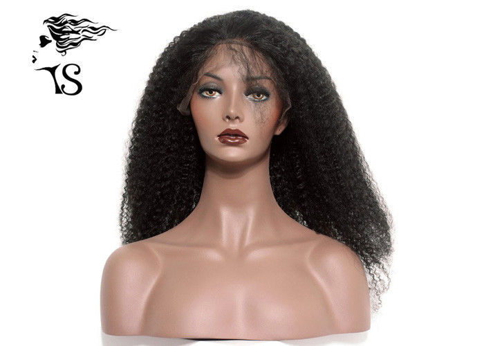 Heavy Density Curly Long Lace Front Wigs Human Hair , Real Hair Lace Front Wigs