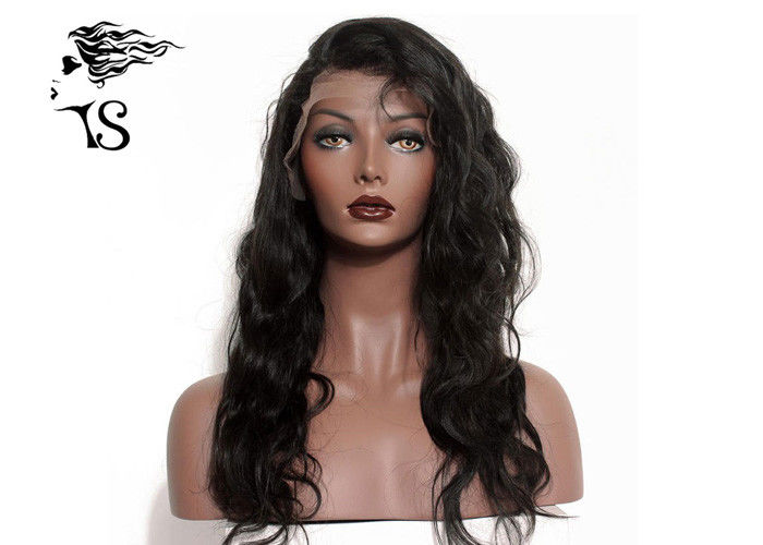 Kinky Straight Indian Remy Human Hair Lace Front Wigs For African American 130% Density