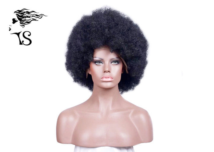 Tight Afro Kinky Curly Full Lace Human Hair Wigs Short Black Wigs Heavy Density