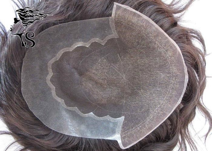 French Lace Front Real Hair Hair Piece / Natural Hair Toupee For Men Invisible