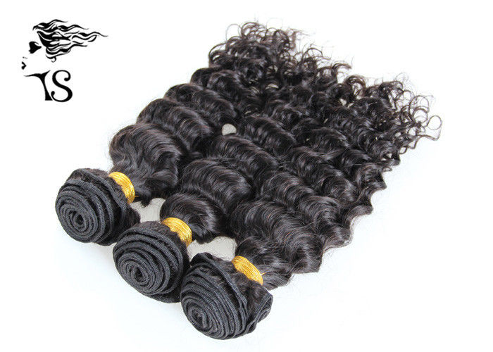100% Indian Remy Deep Wave Hair Extensions Human Hair For African American Girls