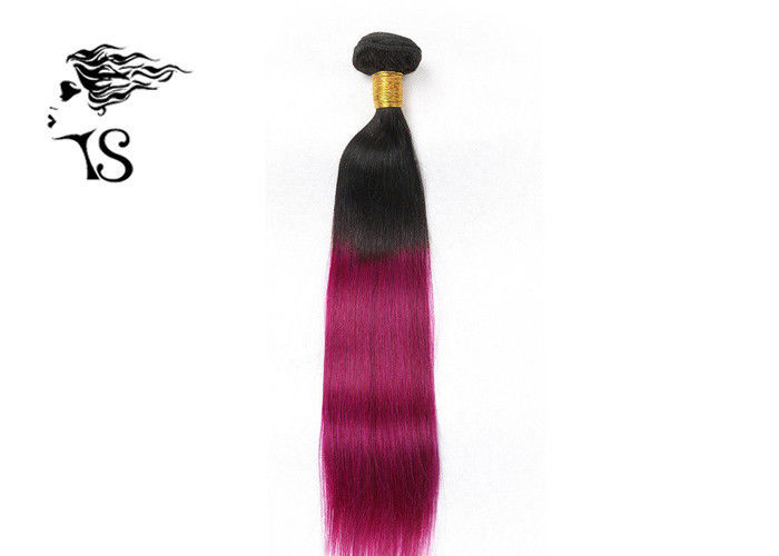 Black To Purple Ombre Hair Extensions 7A 100% Indian Virgin Hair Extensions Straight