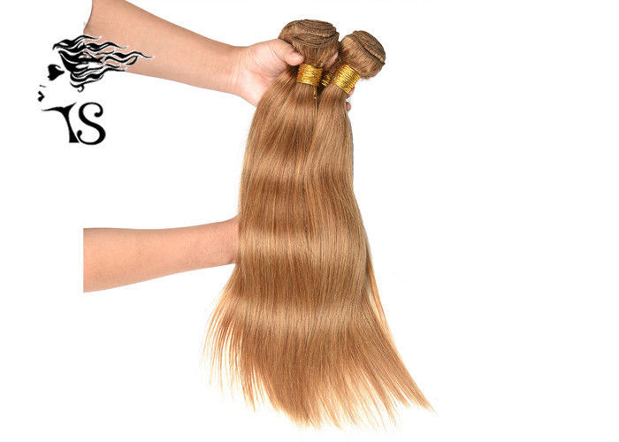 Ginger Blonde 7A 100% Mongolian Remy Hair Extensions Silky Straight 18 Inch