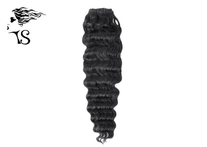 22 Inch 8A Indian Remy Real Human Hair Extensions Deep Wave For Black Ladies