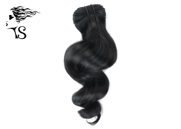 8A Black Indian Remy Curly Weave Extension Loose Wave For African American